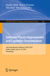 Software Process Improvement and Capability Determination by Paul M. Clarke