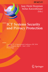 ICT Systems Security and Privacy Protection by Jaap-Henk Hoepman