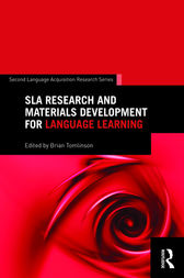SLA Research and Materials Development for Language Learning by Brian Tomlinson