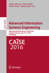 Advanced Information Systems Engineering by Selmin Nurcan