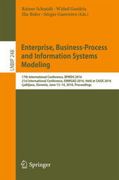 Enterprise, Business-Process and Information Systems Modeling by Rainer Schmidt