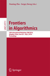 Frontiers in Algorithmics by Daming Zhu