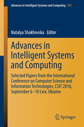 Advances in Intelligent Systems and Computing by Natalya Shakhovska