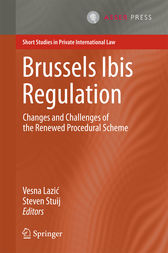 Brussels Ibis Regulation by Vesna Lazic