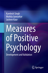 Measures of Positive Psychology by Kamlesh Singh