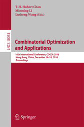 Combinatorial Optimization and Applications by T-H. Hubert Chan