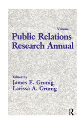 Public Relations Research Annual by James E. Grunig
