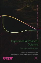 Experimental Political Science: Principles and Practices