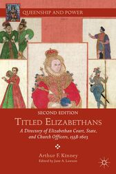Titled Elizabethans by A. Kinney