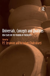 Universals, Concepts and Qualities by P.F. Strawson