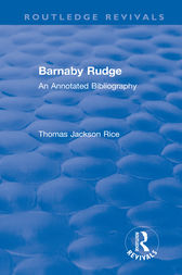 Routledge Revivals: Barnaby Rudge (1987 ) by Thomas Jackson Rice