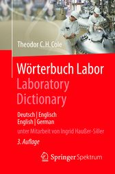 Wörterbuch Labor / Laboratory Dictionary: Deutsch/Englisch - English/German